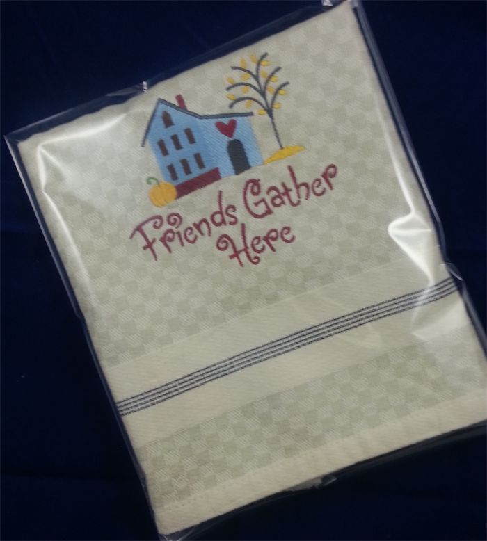 Hand Towel or Tea Towel - Embroidered. Find it at www.madeit.com/ bluewrencottage