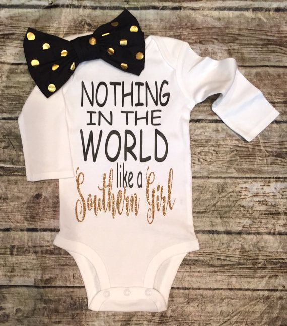 Southern Girl Onesie Baby Girl Southern Onesie by BellaPiccoli