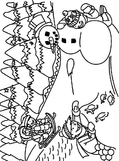 get creative with this winter snowman coloring page free printable