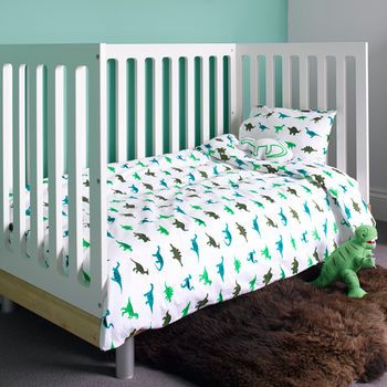 Dinosaur Cot Bed Duvet Set