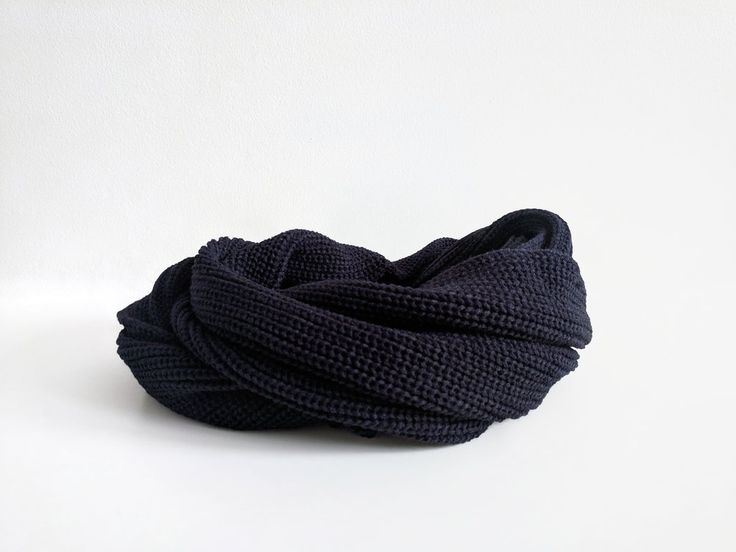 Basic Black Knit Infinity Scarf