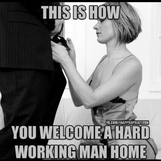 Or a hard working woman, they need to be taken care of aswell
