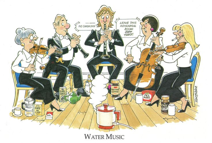 Joan Butler Classics Greeting Card - Water Music