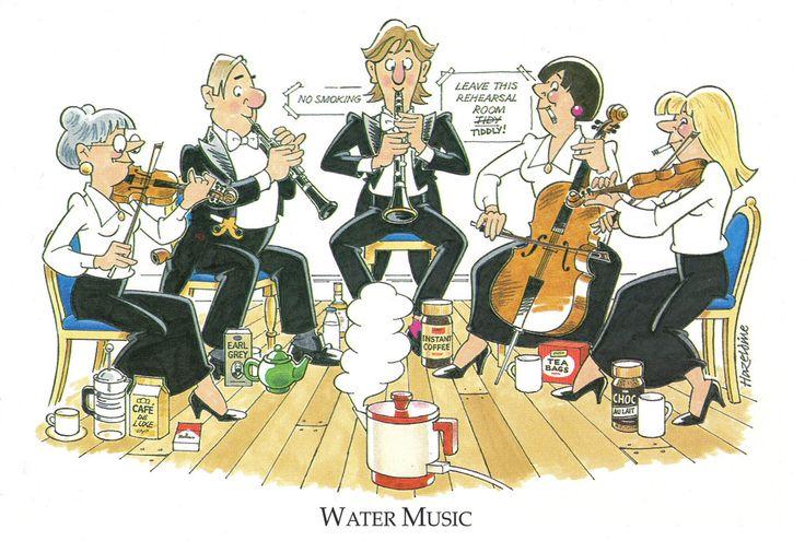 Joan Butler Classics Greeting Card - Water Music