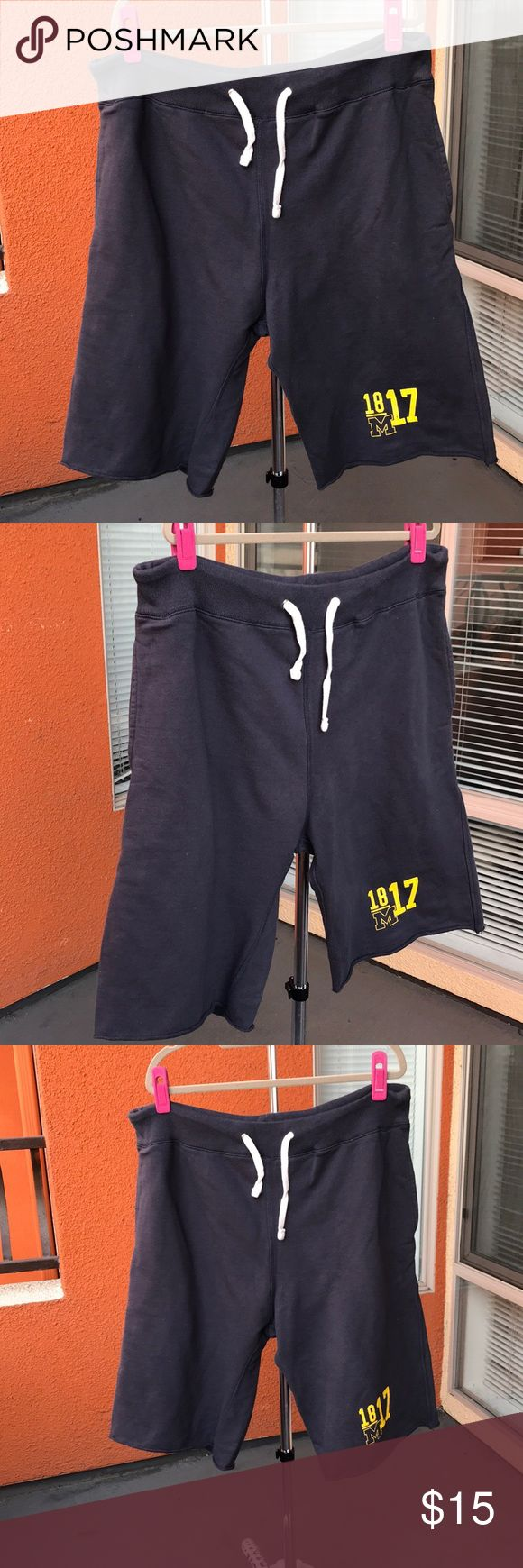 University of Michigan sweats BARELY WORN. SMOKE/PET FREE. minor to no signs of wear. Super comfy. Drawstring waist. Raw bottom hem. Can be unisex. j2 sport Shorts Athletic