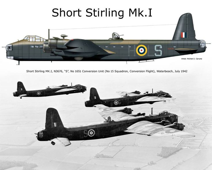 """Visit stirlingproject.co.uk to help them resurrect this extinct bird. They are doing beautiful work."" KB Short Stirling Mk.I"