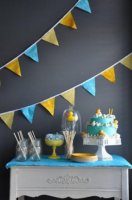 Anniversaire bleu  jaune #anniversaire #déco