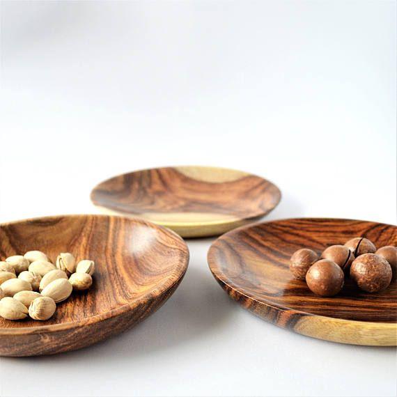 Wonderful plate set 3 rosewood plates jewelry dish kitchen