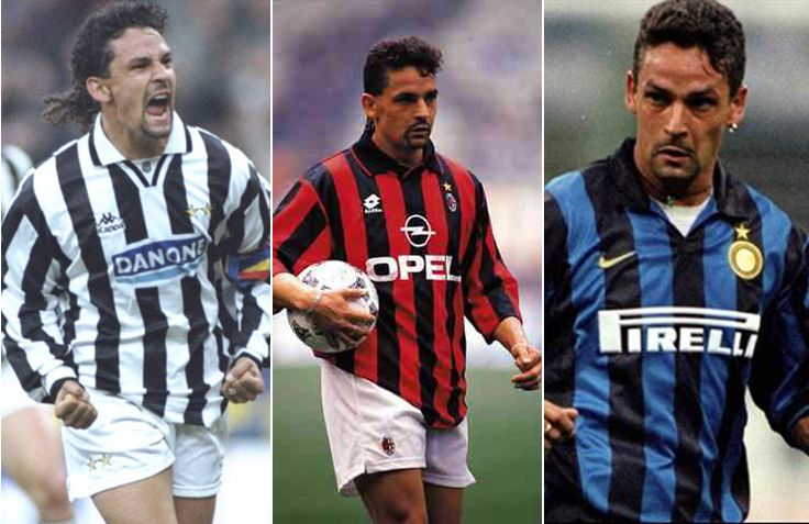 RB10  Juventus 1990–1995, Milan 1995–1997, Internazionale 1998–2000  #Roberto #Baggio #Juventus #Inter #Milan