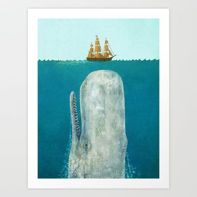 The Whale  Art Print by Terry Fan - $19.00