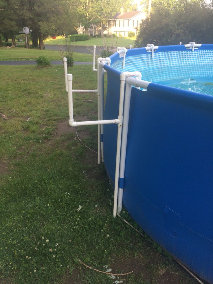Above ground pool cover holder pvc pinteres - Covering a swimming pool with decking ...