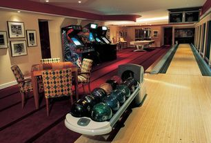 Eclectic Game Room with Bowling ball return, Midway NBA Showtime: NBA on NBC Arcade Game (1999), Interior accent lighting
