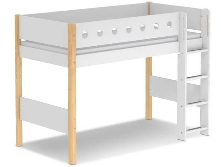 Flexa Spielbett White 90 X 200 Cm Natur Weiss In 2020 Bett Weiss