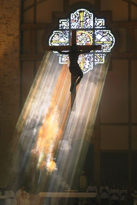 Beautiful sunbeams through stained glass at Christ the Redeemer Catholic Church, Houston, Texas... ~~ Houston Foodlovers Book Club