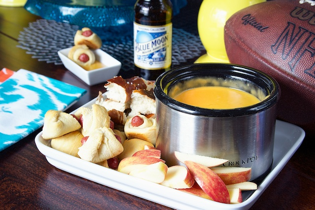 Beer Cheese Fondue, add this super dip to your Superbowl Sunday snack list!