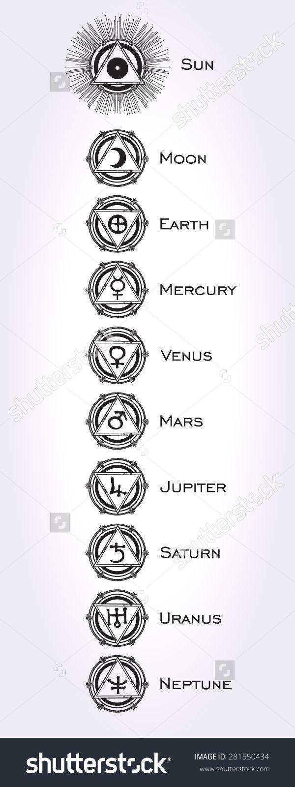 planet symbol tattoos - Google Search