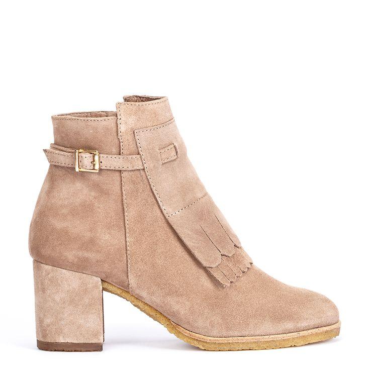 #zapatos #botín #tacón de la nueva colección #AW de #pedromiralles en color #beige #shoponline