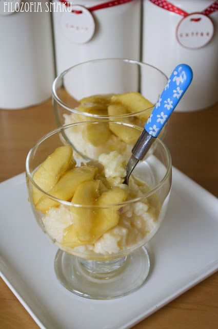 Waniliowy pudding ryżowy z karmelizowanymi jabłkami   Filozofia Smaku