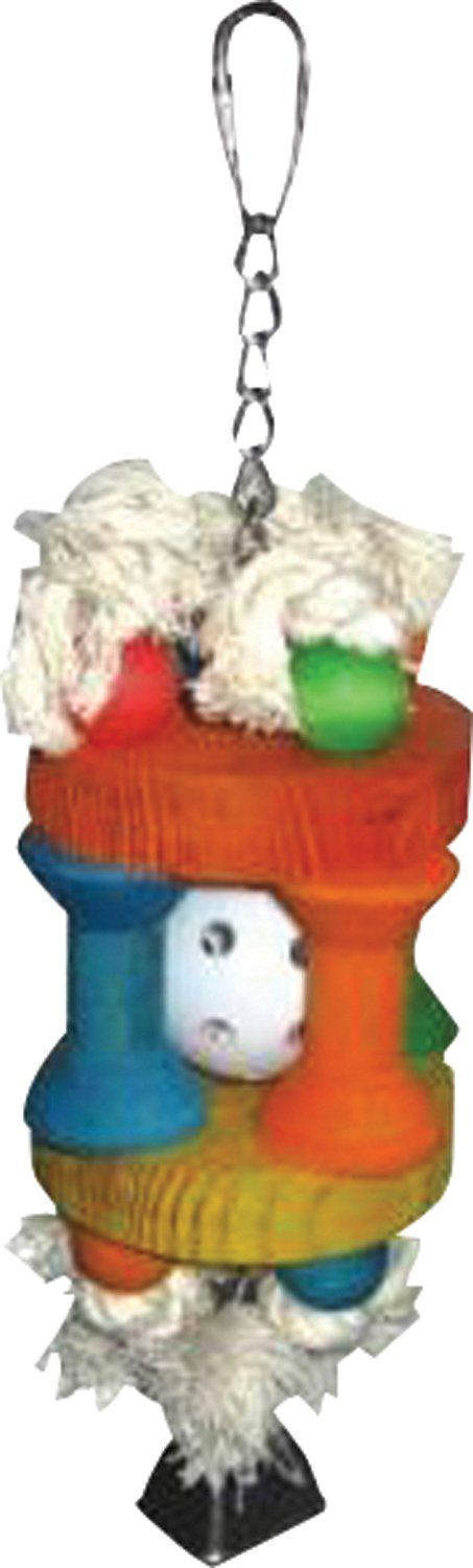 A&e Cage Company-Happy Beaks Wiffle Ball In Solitude Bird Toy- Assorted 3.5x10 In