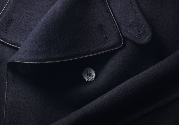 The Navy Double Faced Peacoat