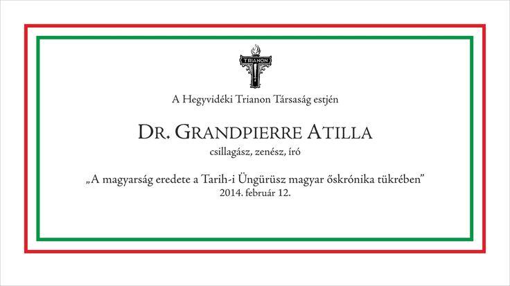 HTT - Grandpierre Atilla_A magyarság eredete a Tarih-i Üngürüsz magyar ő...