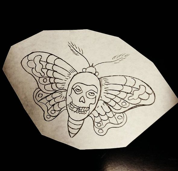Misfits moth tattoo                                                       …