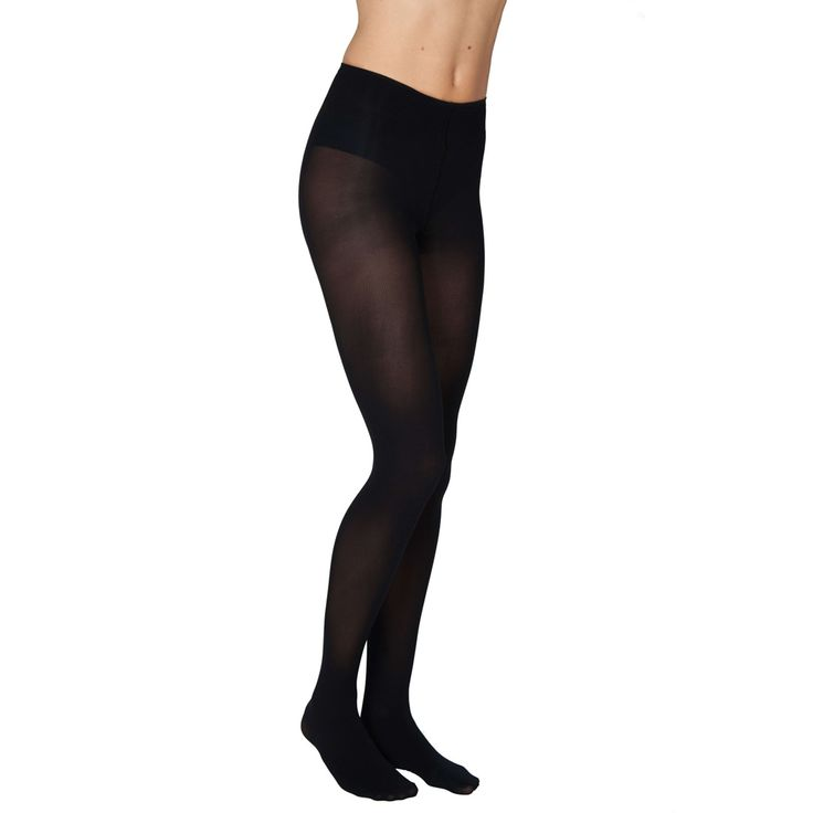 Olivia Black Stockings by Swedish Stockings... tights made to last: beautiful, durable and eco-friendly tights, which are knitted using 3D technology to make them resistant to snagging. | Get yours at BuyMeOnce.com