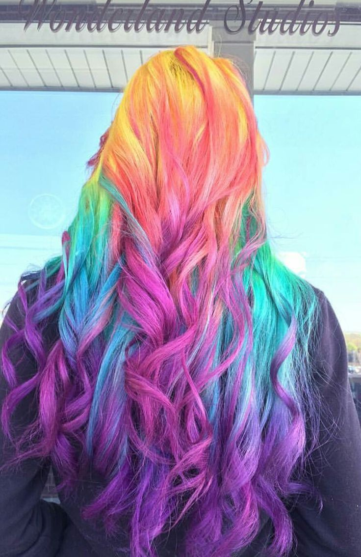 25+ best ideas about Rainbow Dyed Hair on Pinterest ...