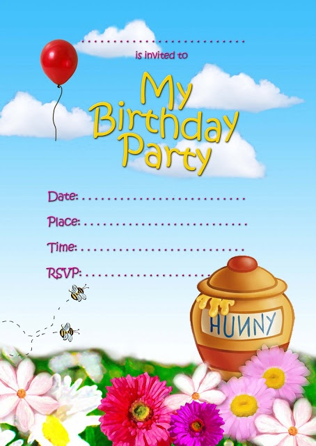 FREE Kids Party Invitations: Girls Parties