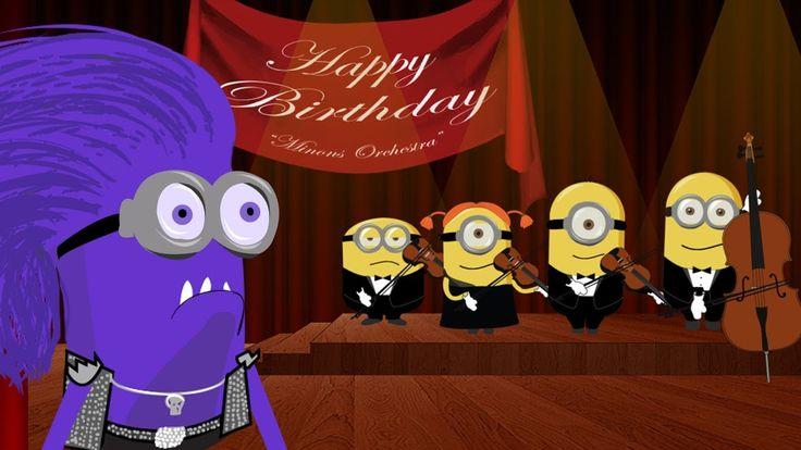 les minions Joyeux anniversaire (Happy Birthday Song ) ~ drôle dessin animé