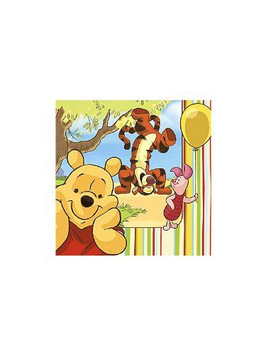 Hallmark Mens Disney Pooh and Pals 1st Birthday Lunch Napkins Black Medium ** Check this awesome product by going to the link at the image.