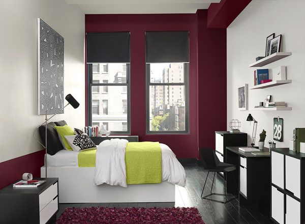1000 ideas about red accent walls on pinterest red. Black Bedroom Furniture Sets. Home Design Ideas