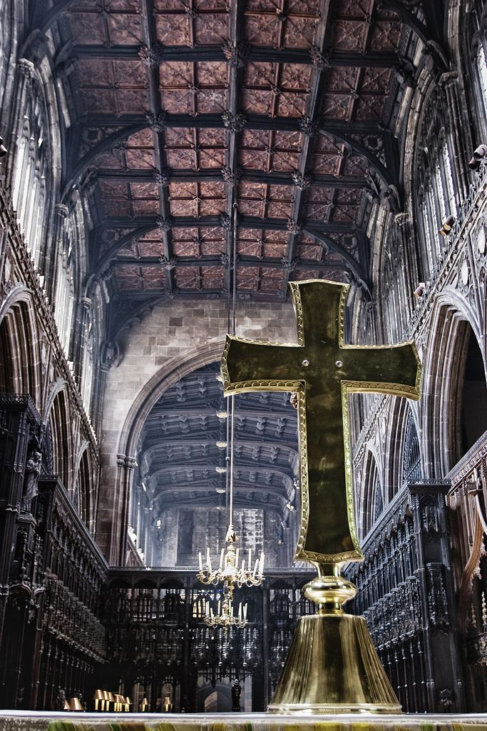 Cathedral cross, Manchester Cathedral
