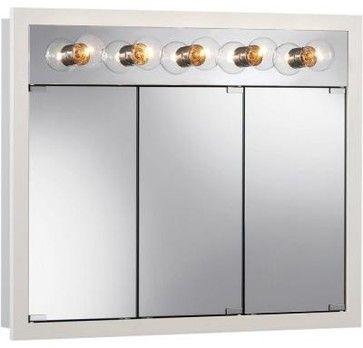 NuTone Bathroom Granville 36 in. Surface Mount Medicine Cabinet in Classic White - contemporary - medicine cabinets - Home Depot