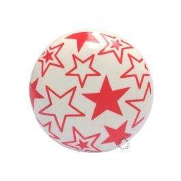 Engeltjes & Draken | La Finesse | Deurknop ster mix rood #deurknop # ladeknop #commode #kommode #kinderkamer #babykamer #sterren #star #ster #rood #red #lafinesse