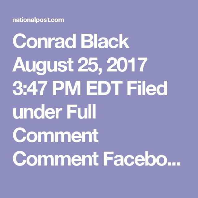 Conrad Black August 25, 2017 3:47 PM EDT Filed under Full Comment Comment Facebook Twitter Email More Canada is suffering from a prolonged drought of imaginative government. Since Stephen Harper bucked an otherwise universal international trend and reduced HST, and durably shrunk, as he hoped, the public sector share of the Canadian economy, our federal legislators have under-achieved. Nothing important and novel has been done except the unfolding legalization of marijuana.