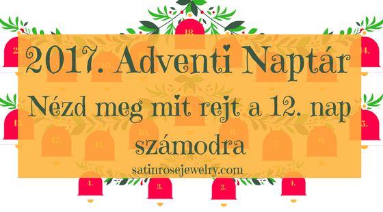 Adventi Naptár 12. nap  Minden este új meglepetést találtok az adventi naptárban. Csak kattintsatok az aznapi csengőre. Három szerelmi jóslás technika, hogy megtudjuk, hogyan fogják hívni a leendő férjünket, illetve egy gyors gombóc recept.😁⤵️🕸️🕷️  http://www.satinrosejewelry.com/adventi-naptar-2017/