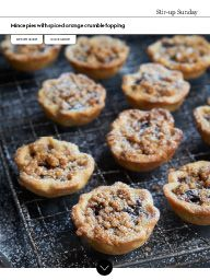 Waitrose Food November 2015: Mince pies with spiced orange crumble topping