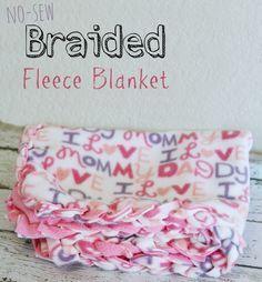 Eclectic Momsense | No Sew Braided Fleece Blanket | http://eclecticmomsense.com