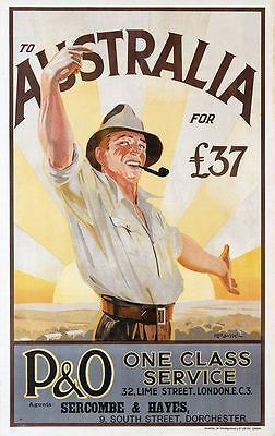 #Vintage emigrate to australia travel #poster  a3 #print,  View more on the LINK: http://www.zeppy.io/product/gb/2/301377810487/