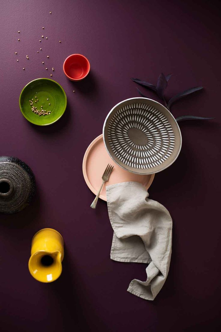 Lush greens, red wines and golden yellows are the signature colours of the Collaborate palette. Volume 2 of the Haymes Colour Library. Colours include Grape Nector,  Red Eart, Thrush, Warm Blush, Pale Stone & Bison Beige