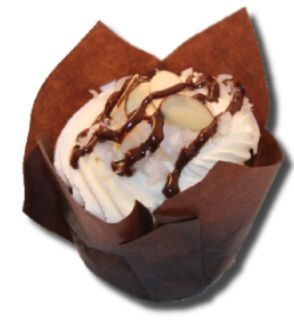 """Cupcake Menu : Ode to """"Almond"""" Joy  Awesome Cupcake from Ethereal Cupcakes and Coffee Shoppe."""