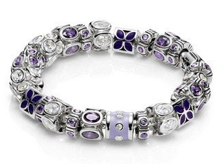 <3 Purple Heaven Pandora Inspirations ready-made bracelet~by Gilletts Jewellers.  $1,951.00