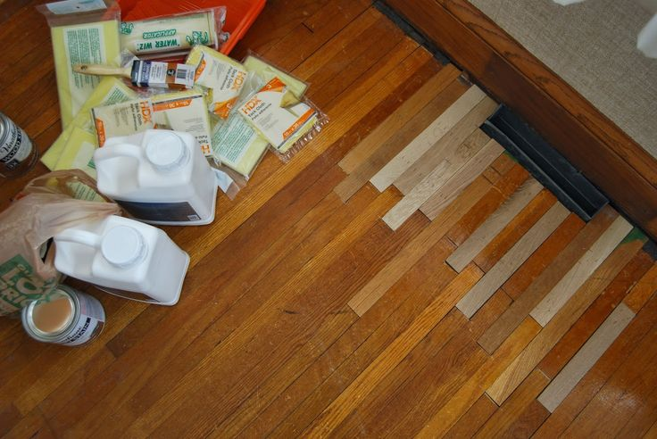 Patching and refinishing original wood floors. It's not as hard as it seems!