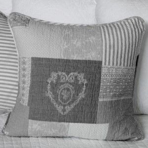 Biggie Best Grey Quilted Patchwork Cushion