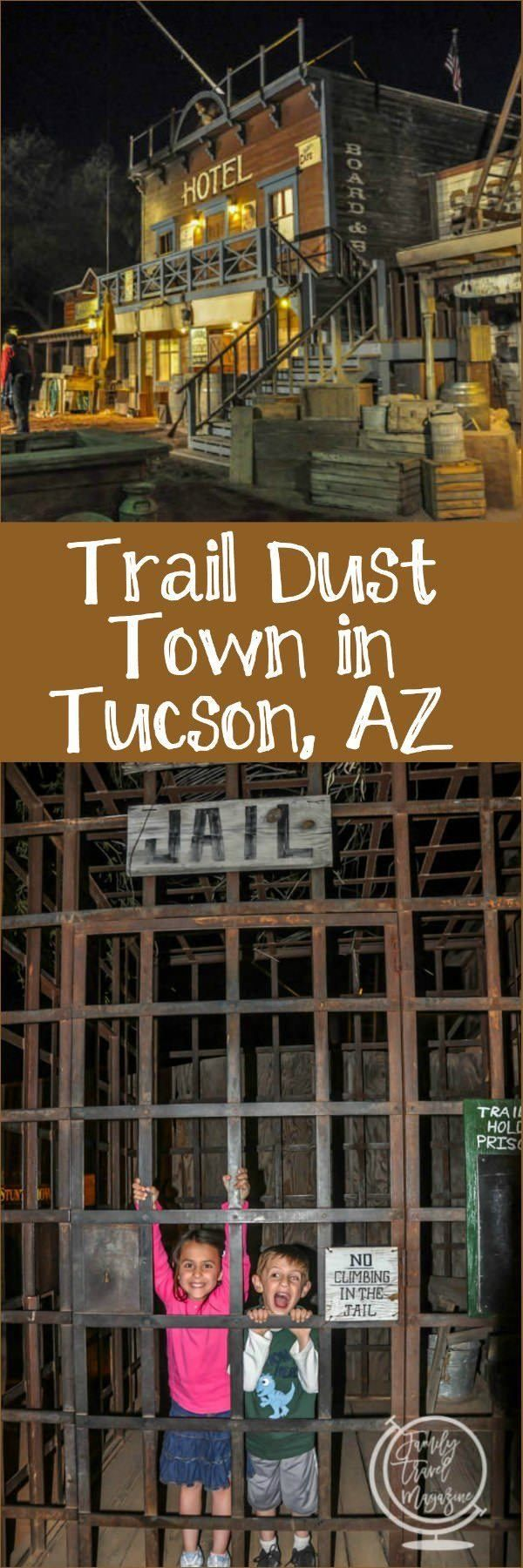 A review of Trail Dust Town in Tucson, Arizona, including a gun show, old west shops and a western restaurant.