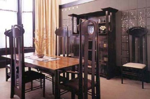 Charles Rennie Mackintosh dining room (house for an art lover)