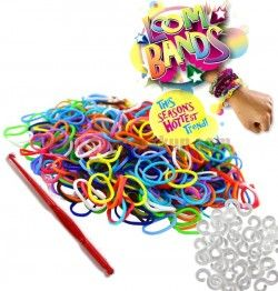 Loom Bands gumičky s háčikom na pletenie - dúhové farby