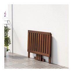 ÄPPLARÖ Mesa abas rebat/pern art p/par, ext, velatura castanha - IKEA