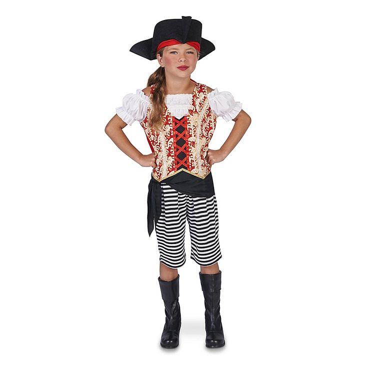Pirate Girl Large Child's Halloween Costume Multi
